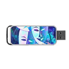Abstract Mask Artwork Digital Art Portable Usb Flash (one Side)