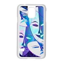 Abstract Mask Artwork Digital Art Samsung Galaxy S5 Case (White)