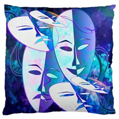 Abstract Mask Artwork Digital Art Large Flano Cushion Case (Two Sides)