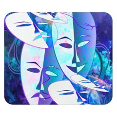 Abstract Mask Artwork Digital Art Double Sided Flano Blanket (small)