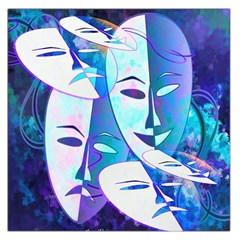 Abstract Mask Artwork Digital Art Large Satin Scarf (square)