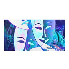 Abstract Mask Artwork Digital Art Satin Wrap