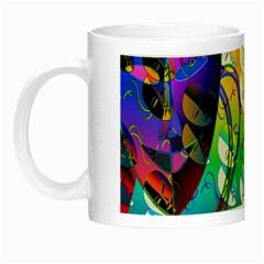 Abstract Mask Artwork Digital Art Night Luminous Mugs
