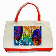 Abstract Mask Artwork Digital Art Classic Tote Bag (Red)