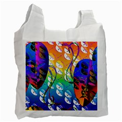 Abstract Mask Artwork Digital Art Recycle Bag (Two Side)