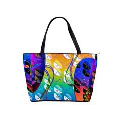 Abstract Mask Artwork Digital Art Shoulder Handbags
