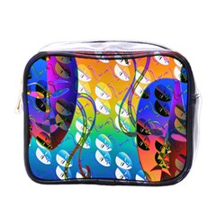 Abstract Mask Artwork Digital Art Mini Toiletries Bags