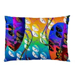 Abstract Mask Artwork Digital Art Pillow Case (Two Sides)