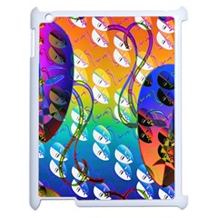 Abstract Mask Artwork Digital Art Apple iPad 2 Case (White)
