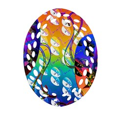 Abstract Mask Artwork Digital Art Oval Filigree Ornament (Two Sides)