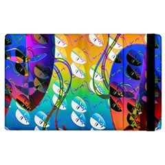 Abstract Mask Artwork Digital Art Apple iPad 3/4 Flip Case