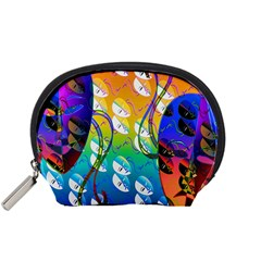 Abstract Mask Artwork Digital Art Accessory Pouches (small)