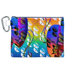 Abstract Mask Artwork Digital Art Canvas Cosmetic Bag (XL)