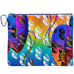 Abstract Mask Artwork Digital Art Canvas Cosmetic Bag (XXXL)