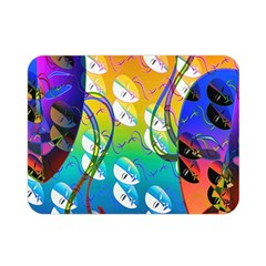 Abstract Mask Artwork Digital Art Double Sided Flano Blanket (mini)
