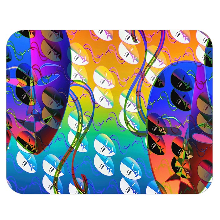 Abstract Mask Artwork Digital Art Double Sided Flano Blanket (Medium)