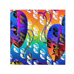Abstract Mask Artwork Digital Art Small Satin Scarf (Square)