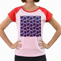 Abstract Pattern Seamless Artwork Women s Cap Sleeve T Shirt