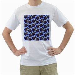 Abstract Pattern Seamless Artwork Men s T-Shirt (White) (Two Sided)