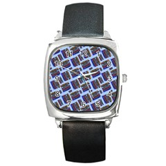 Abstract Pattern Seamless Artwork Square Metal Watch