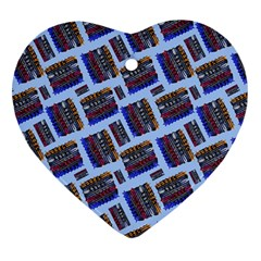 Abstract Pattern Seamless Artwork Heart Ornament (Two Sides)