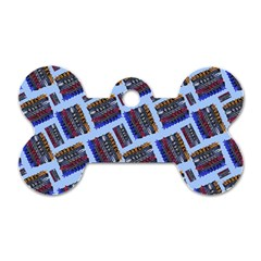 Abstract Pattern Seamless Artwork Dog Tag Bone (Two Sides)