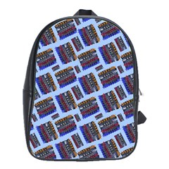 Abstract Pattern Seamless Artwork School Bags(Large)