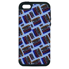 Abstract Pattern Seamless Artwork Apple iPhone 5 Hardshell Case (PC+Silicone)