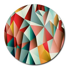 Abstracts Colour Round Mousepads
