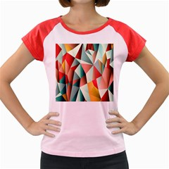 Abstracts Colour Women s Cap Sleeve T Shirt