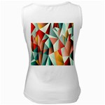 Abstracts Colour Women s White Tank Top Back