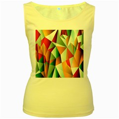 Abstracts Colour Women s Yellow Tank Top
