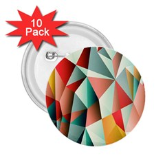 Abstracts Colour 2.25  Buttons (10 pack)