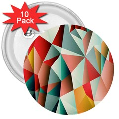 Abstracts Colour 3  Buttons (10 pack)