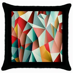Abstracts Colour Throw Pillow Case (Black)