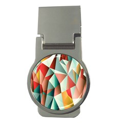 Abstracts Colour Money Clips (Round)