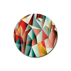 Abstracts Colour Rubber Round Coaster (4 pack)