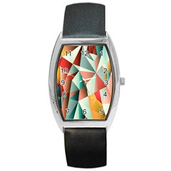 Abstracts Colour Barrel Style Metal Watch