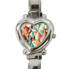 Abstracts Colour Heart Italian Charm Watch