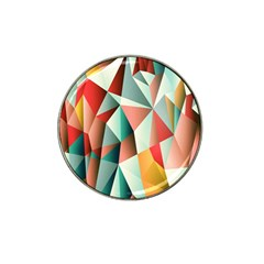 Abstracts Colour Hat Clip Ball Marker (4 pack)