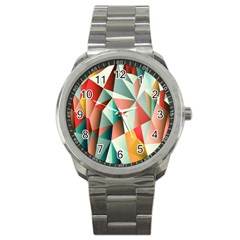 Abstracts Colour Sport Metal Watch