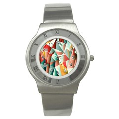 Abstracts Colour Stainless Steel Watch