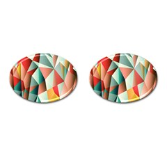 Abstracts Colour Cufflinks (Oval)
