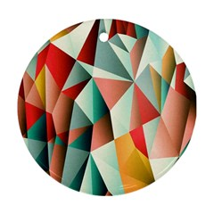 Abstracts Colour Round Ornament (Two Sides)
