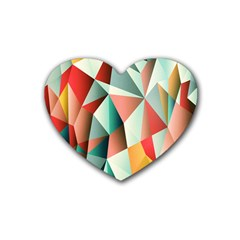 Abstracts Colour Rubber Coaster (Heart)