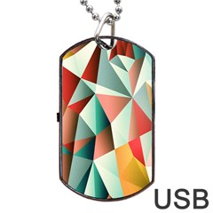 Abstracts Colour Dog Tag USB Flash (One Side)