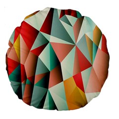 Abstracts Colour Large 18  Premium Round Cushions