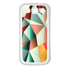 Abstracts Colour Samsung Galaxy S3 Back Case (white)