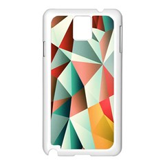 Abstracts Colour Samsung Galaxy Note 3 N9005 Case (White)