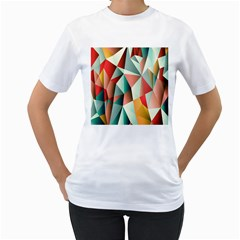 Abstracts Colour Women s T Shirt (white)